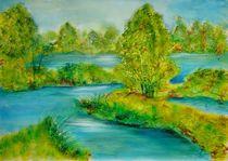 Flußlandschaft by Ulrike Kröll