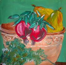Pomegranates, Pears And Parsley von julie butterworth