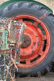 Red Tractor wheel by camera-rustica