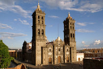 PUEBLA CATHEDRAL Mexico by John Mitchell