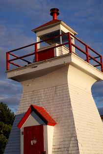 RED AND WHITE LIGHTHOUSE 2 Saint John New Brunswick von John Mitchell