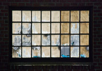 Window on brick wall by James Menges