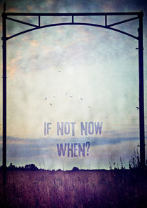 If not now. when? by Sybille Sterk