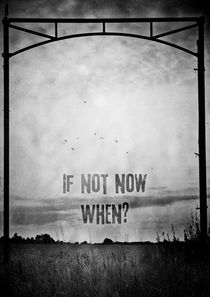 If not now, when? by Sybille Sterk