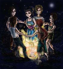 Alle Kinder tanzen um das Feuer, nur nicht Brigitte – die steht in der Mitte von Asta Legios