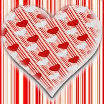 Herz rot weiß  von Christine Bässler