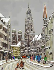 Das alte München im Advent by Heidi Schmitt-Lermann