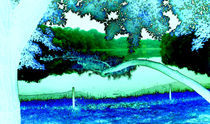 Lake in the Moonlight by Pamela Rivera