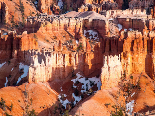 White-orange-rocks