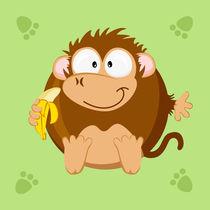 Kugeltier Affe von Michaela Heimlich