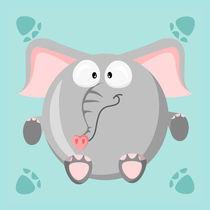 Kugeltier Elefant by Michaela Heimlich