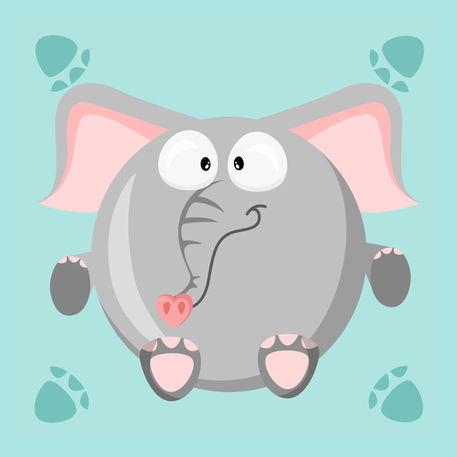 Kugeltier-elefant