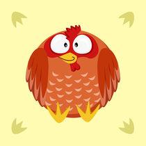 Kugeltier Huhn von Michaela Heimlich