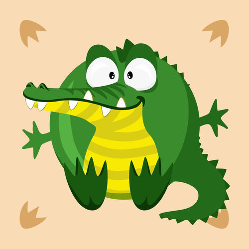 Kugeltier-krokodil