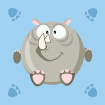 Kugeltier Nashorn von Michaela Heimlich