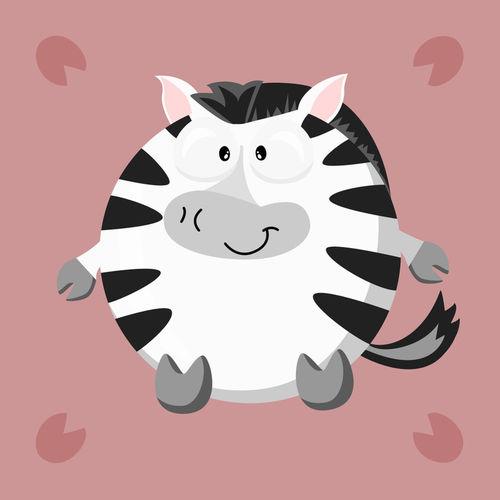 Kugeltier-zebra