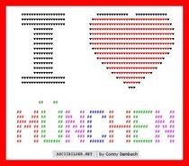 ASCII ART - STADT - I love von Conny Dambach