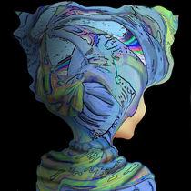 Madame en bleu by Helmut Licht