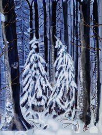 winterliche Tannenbäume by Heidi Schmitt-Lermann