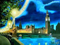 London - Parliament mit Big Ben by M.  Bleichner