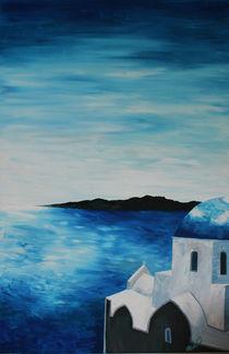 Santorini, Griechenland - Blick auf einen blauen Dom von M.  Bleichner