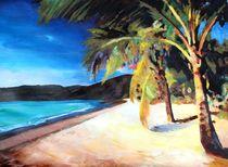 Karibischer Palmenstrand Magens Bay von M.  Bleichner