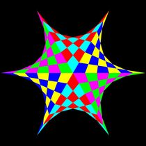 September 14 2012 colored chessboard hexastar by Chandler Klebs