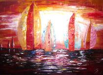 Spimalersegeln in den Sonnenuntergang by Christine  Hamm