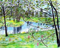 Frühling am Bach von Heidi Schmitt-Lermann
