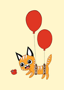 Balloon Cat by freeminds