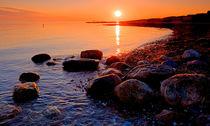 Sunset on the Rocks by Keld Bach
