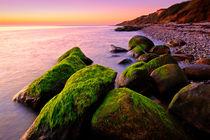 Mossy Rocks Sunset by Keld Bach