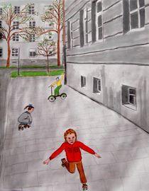 Rollschuhe fahren by Heidi Schmitt-Lermann