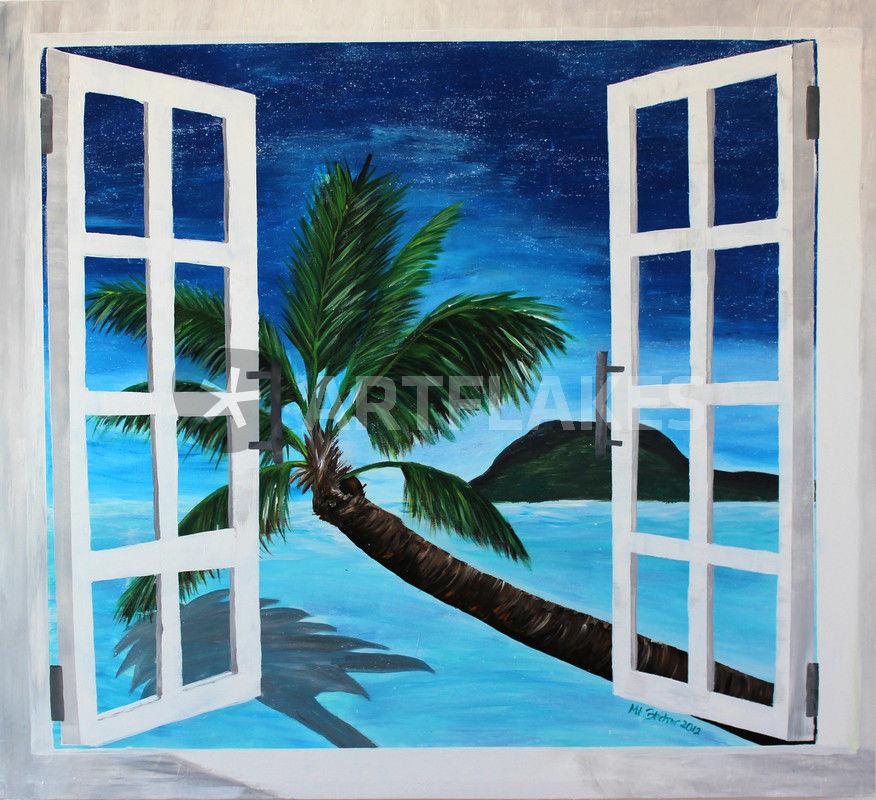 fenster zum paradies malerei als poster und kunstdruck von m bleichner bestellen artflakes com. Black Bedroom Furniture Sets. Home Design Ideas