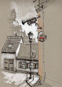 Old streets. Poland. von Tatiana Popovichenko