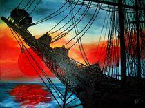 Abend auf See von Bärbel Knees