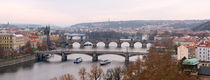 Bridges Across the Vltava by Keld Bach