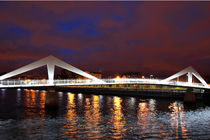 River Clyde Squiggly Bridge Glasgow by Gillian Sweeney