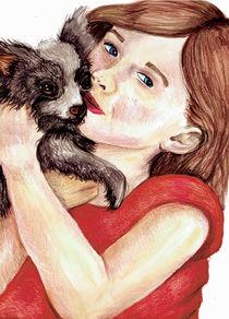 young girl and dog von Cherie Gartner