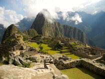 clearing sky over machu picchu  by picadoro