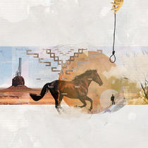 Classic western film abstract collage by Mihalis Athanasopoulos