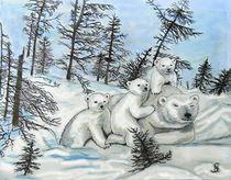 Eisbärfamilie by Heidi Schmitt-Lermann