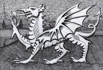 213 - WELSH DRAGON - DAVE EDWARDS - INK - 2012 von Dave  Edwards