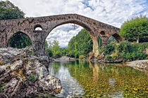 Roman bridge in Cangas de Onis (Spain) by Klaus Dolle