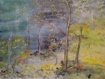 Aquarelle Wald im Herbst von Ka Wegner