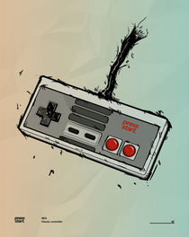 Press start - Gaming poster #2 by Linnea o Christoffer