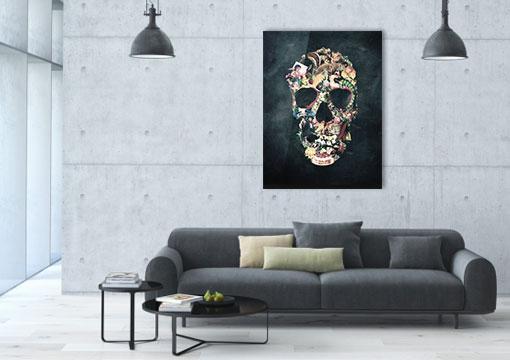 Vintage Skull von Ali GULEC