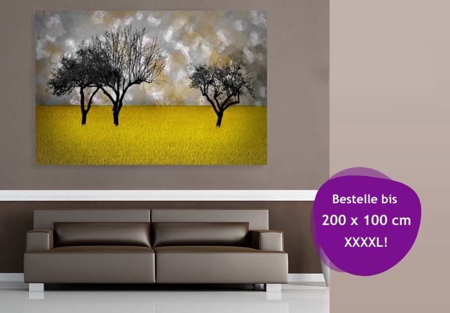 Art prints, gallery prints and canvases up to 2.00 x 1.00 m