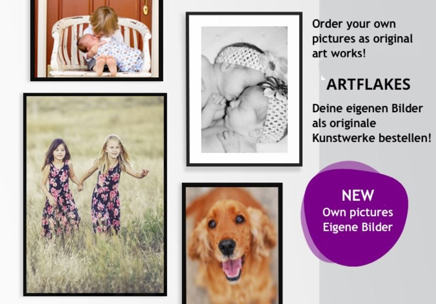 Order your own pictures as art print
